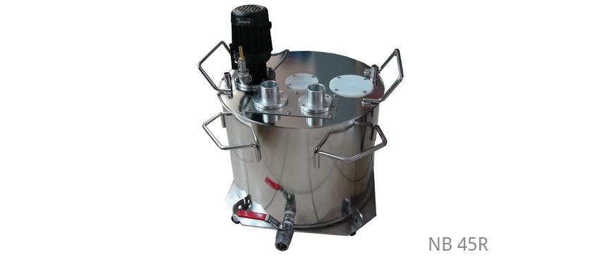 Poliermittelbehälter ohne Kühlung und Heizung