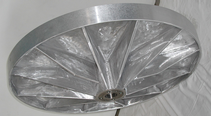 Plan shell made of aluminum, grey cast iron, brass or granite